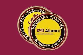ASU Alumni Veterans chapter challenge coin