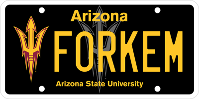 ASU License Plates | Arizona State University Alumni