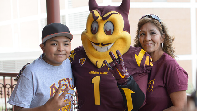 A S U family with Sparky